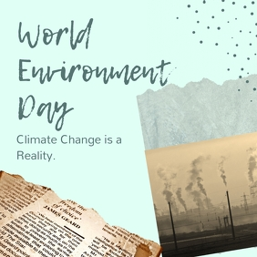 Pastel World Environment Day Instagram Image