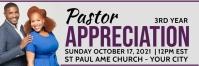 Pastor's appreciation church service Cartel de 2 × 6 pulg. template