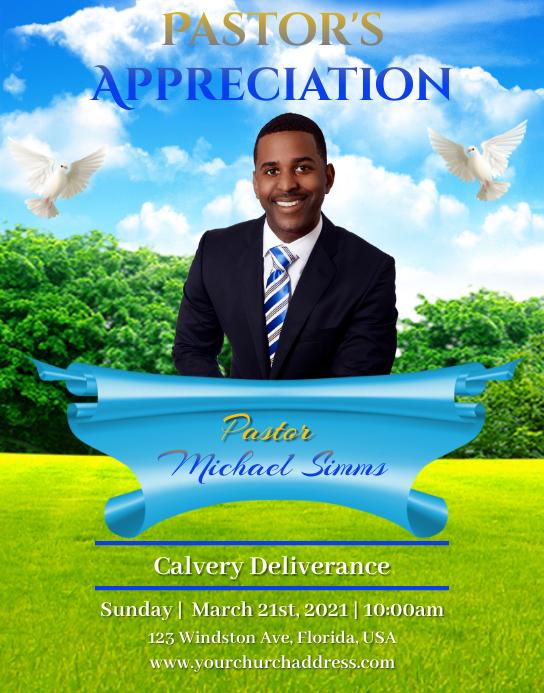 Pastor's Appreciation Póster/Tablero template