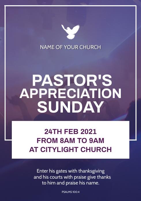 PASTOR'S APPRECIATION SUNDAY A3 template