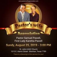 Pastor's wife appreciation social media post template