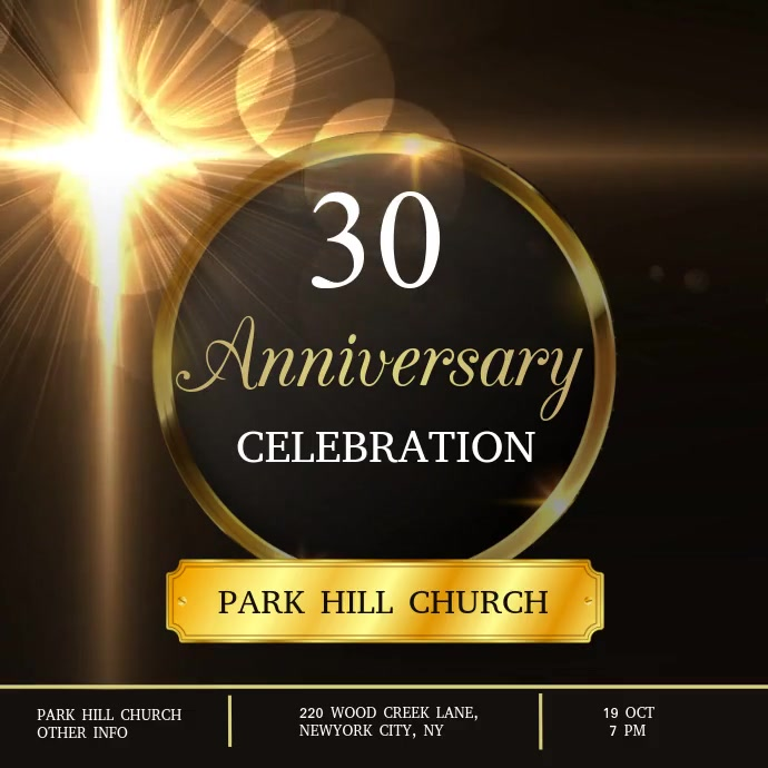 Pastor & Church Anniversary Instagram 帖子 template