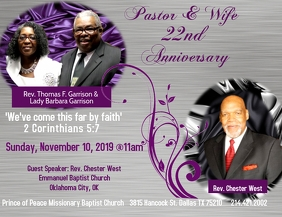 Pastor and Wife Anniversary