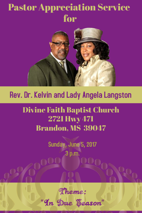 pastor Anniversary/ appreciation