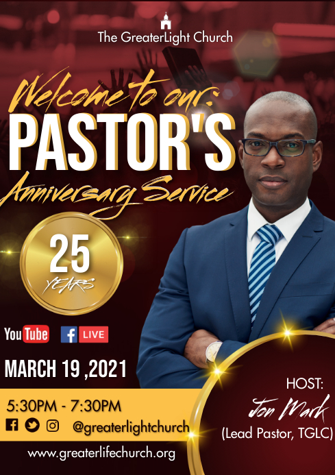 Pastor Anniversary A3 template
