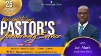 Pastor Anniversary Affichage numérique (16:9) template