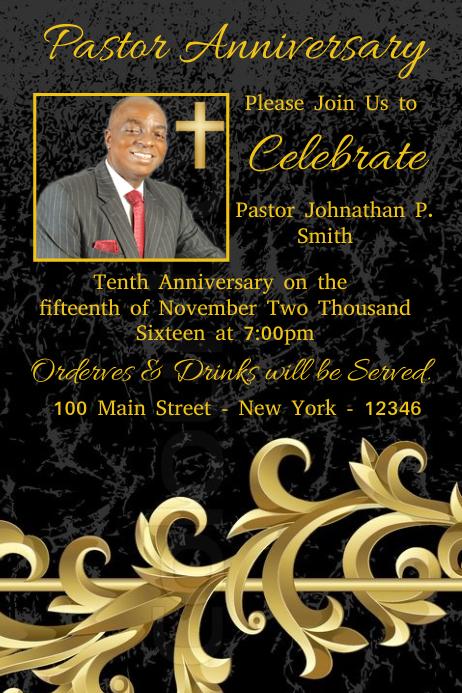 pastor anniversary template