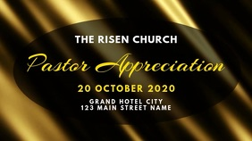 pastor appreciation announcement Digital Display (16:9) template