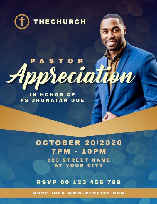 Pastor Appreciation Church Flyer template