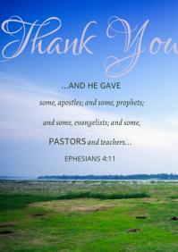 Pastor Appreciation A2 template
