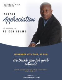 Pastor Appreciation Event Flyer Template