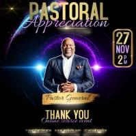 PASTOR APPRECIATION INSTAGRAM template Instagram-opslag