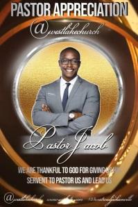 pastor appreciation poster template