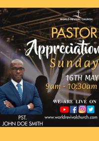Pastor appreciation Service A3 template
