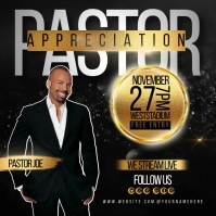 pastor appreciation SOCIAL MEDIA GRAPHICS โพสต์บน Instagram template