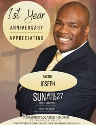 pastor birthday Event Flyer Template