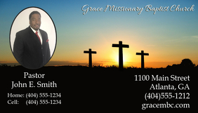 Customizable Design Templates For Pastor Business Cards Postermywall