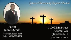 Pastor Business Card Visitkort template
