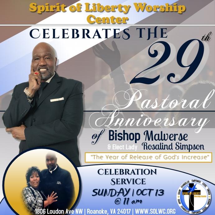 Pastor Church Anniversary for Instagram
