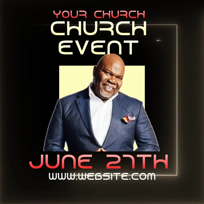 pastor church event ad digital video Logo template