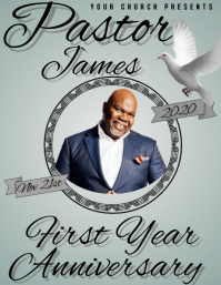 PASTOR FIRST YEAR ANNIVERSARY TEMPLATE