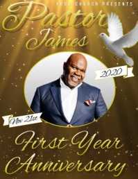 PASTOR FIRST YEAR ANNIVERSARY VIDEO TEMPLATE