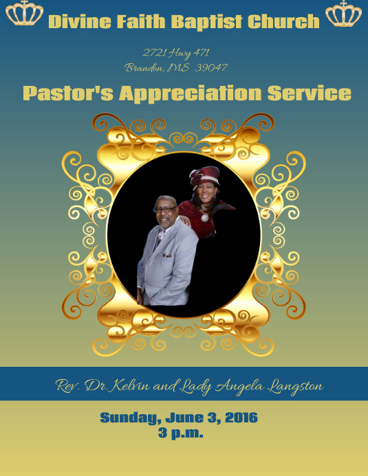 Pastor's Anniversary PosterMyWall