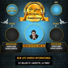 PASTORAL ANNIVERSARY CHURCH FLYER TEMPLATE
