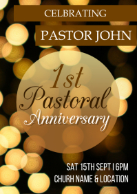 pastoral anniversary A5 template