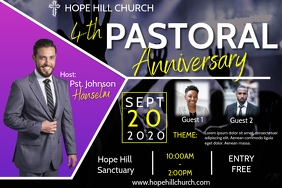 Pastoral Anniversary Flyer Template Poster