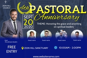 Pastoral Anniversary Poster Template