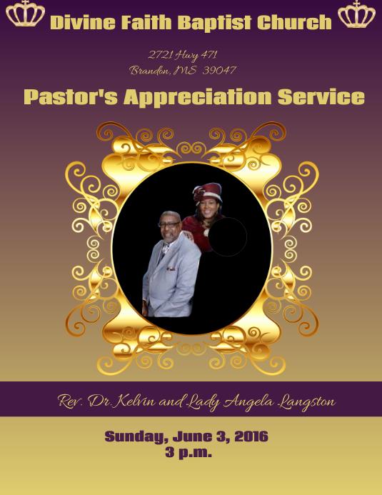 Pastoral appreciation service
