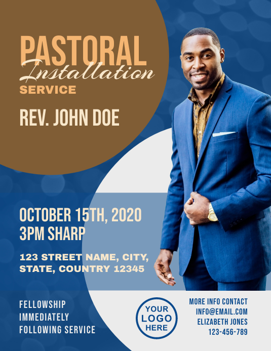 Pastoral Installation Service Church Flyer
