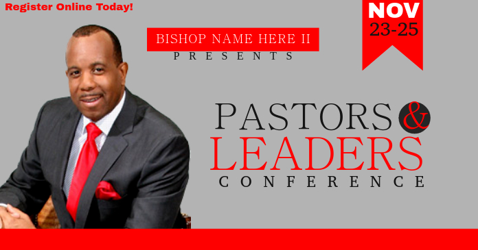Pastors Amp Leaders Conference Template Postermywall