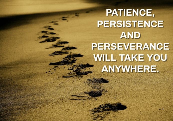 PATIENCE AND PERSISTENCE QUOTE TEMPLATE A5