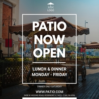 Patio and Deck Restaurant Ad Instagram Post template