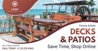 Patio and Decking Service Banner Imagen Compartida en Facebook template