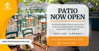 Patio now open Facebook shared Image template