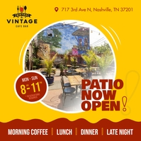 Patio now open Square image Instagram na Post template