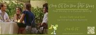 Patio Restaurant Video FB Header/Banner Size. รูปภาพหน้าปก Facebook template