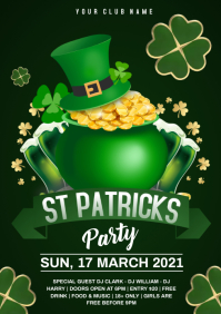 patrick's day party A4 template