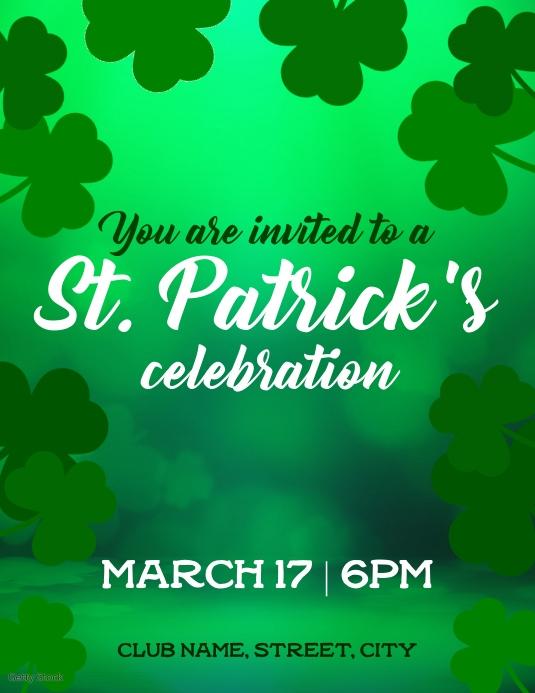 Patricks day invite