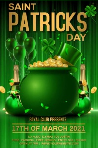 Patricks day video poster template