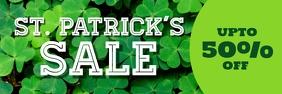Patricks sale banner Spanduk 2' × 6' template