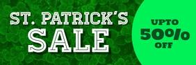 Patricks sale แบนเนอร์ 2' × 6' template