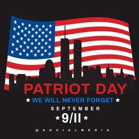 Patriot Day 911 Memorial Flyer Template Publicação no Instagram