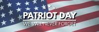 Patriot Day Banner Template Spanduk 2' × 6'