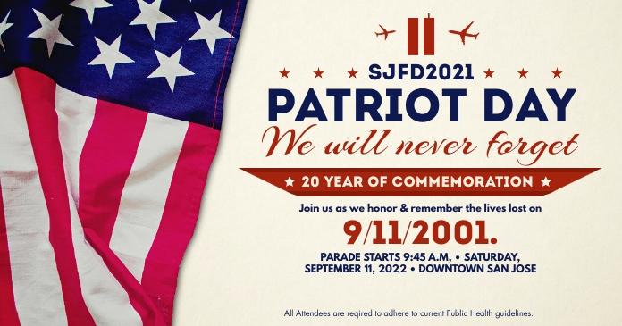 Patriot Day Parade 2021 Post Template Gambar Bersama Facebook
