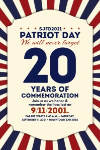 Patriot Day Parade 2021 Template Póster