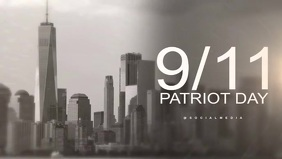 Patriot day. we will never forget template Video Sampul Facebook (16:9)